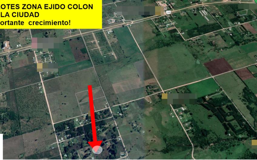 LOTES EN ZONA EJIDO COLÓN.